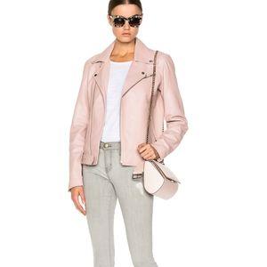 BLK DNM leather jacket blush light dust  pink M
